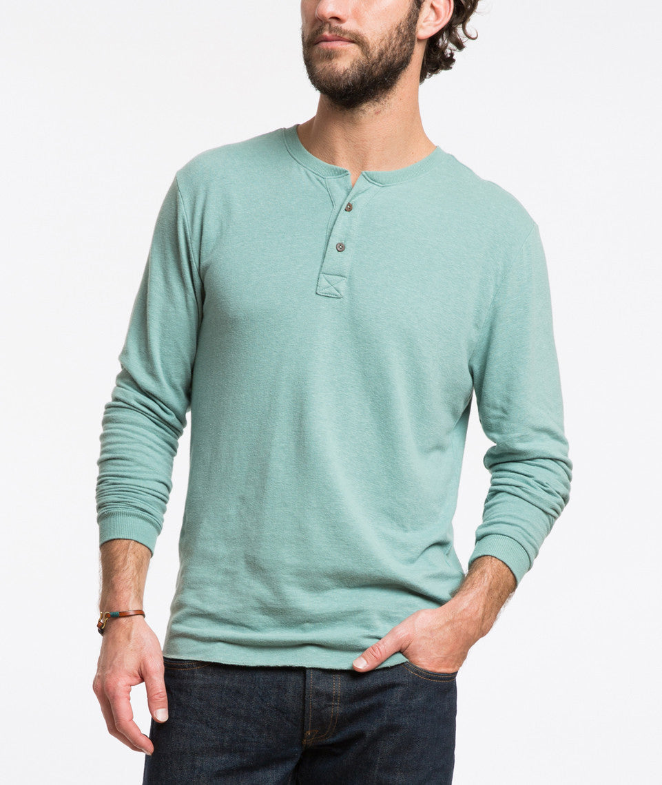 Double Knit Henley - North Atlantic