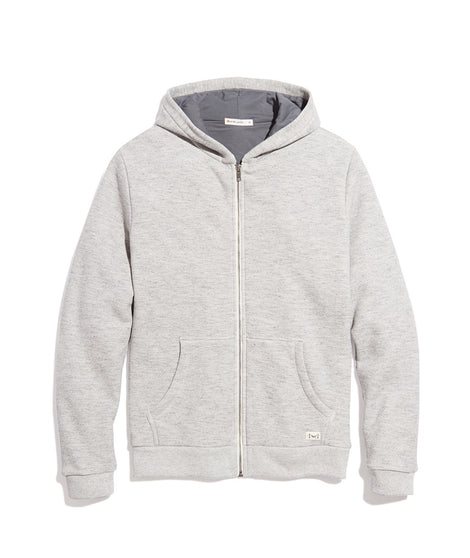 Men's Lined Hoodie in Heather Grey/Asphalt Grey
