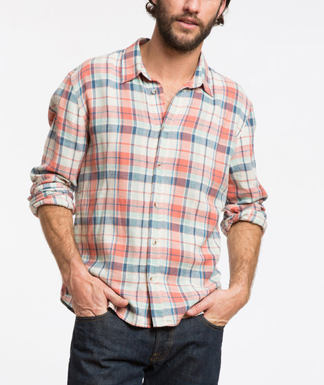 Sol Plaid Button Down
