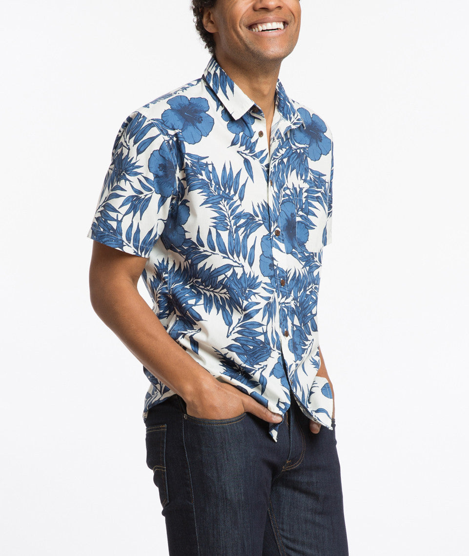 Murphy Hawaiian Print Button Down