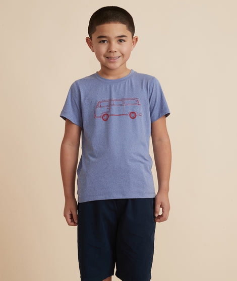 Mini Sport Bus Tee in Marlin Heather