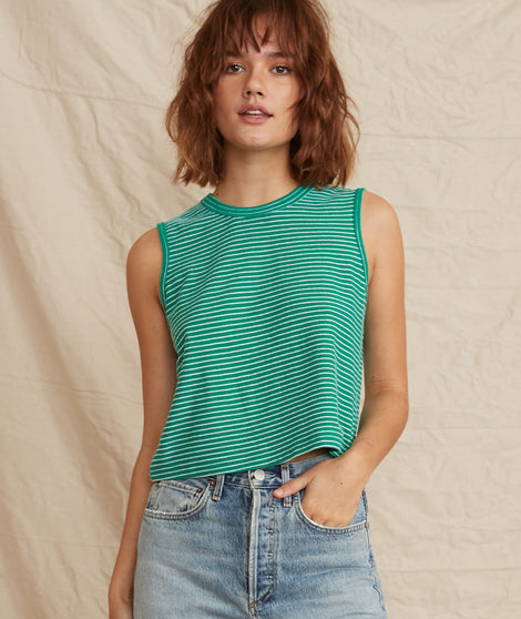 lydia tank green front