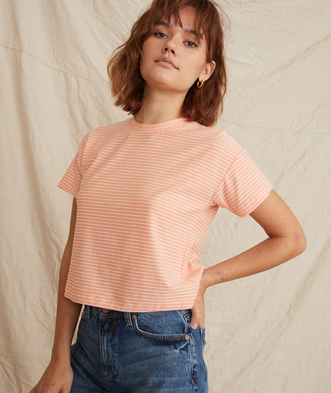 lydia tee peach front