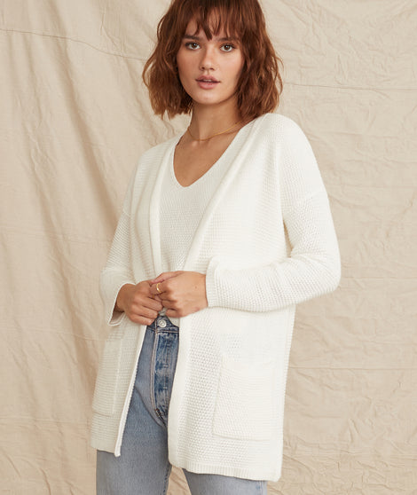 catalina cardigan white front full