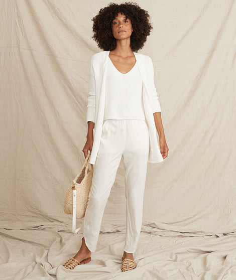Allison Pant in Cream White