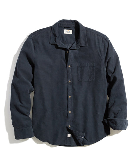 Classic Fit Lightweight Cord Shirt in Faded Black