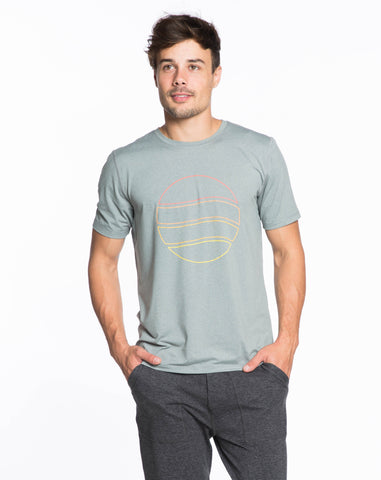 Rise Shortsleeve Crewneck - Heather Grey Sun Graphic