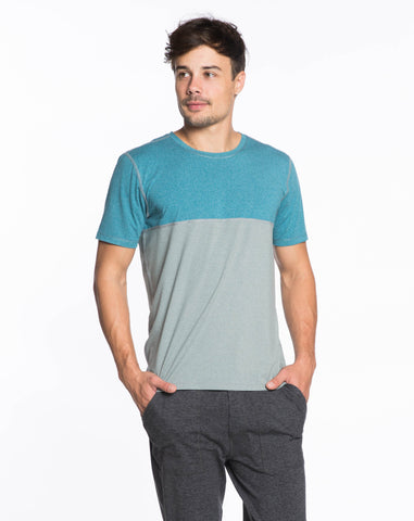 Rise Shortsleeve Crewneck - Teal Colorblock