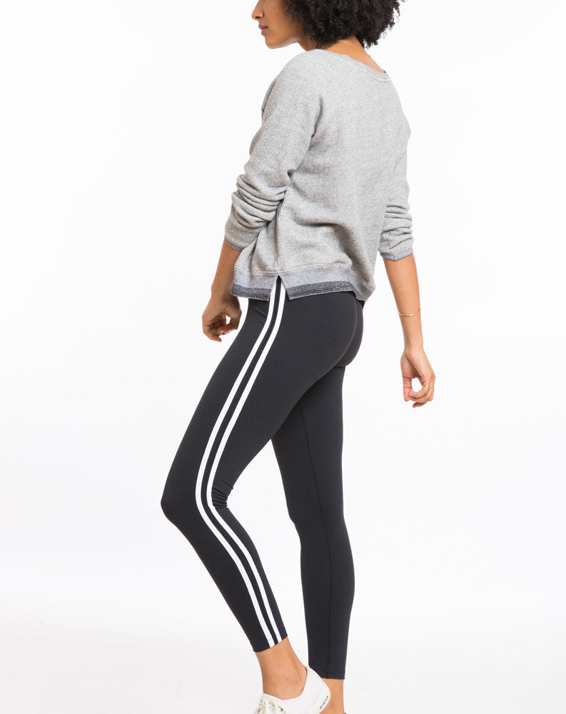 Striped Legging - Black