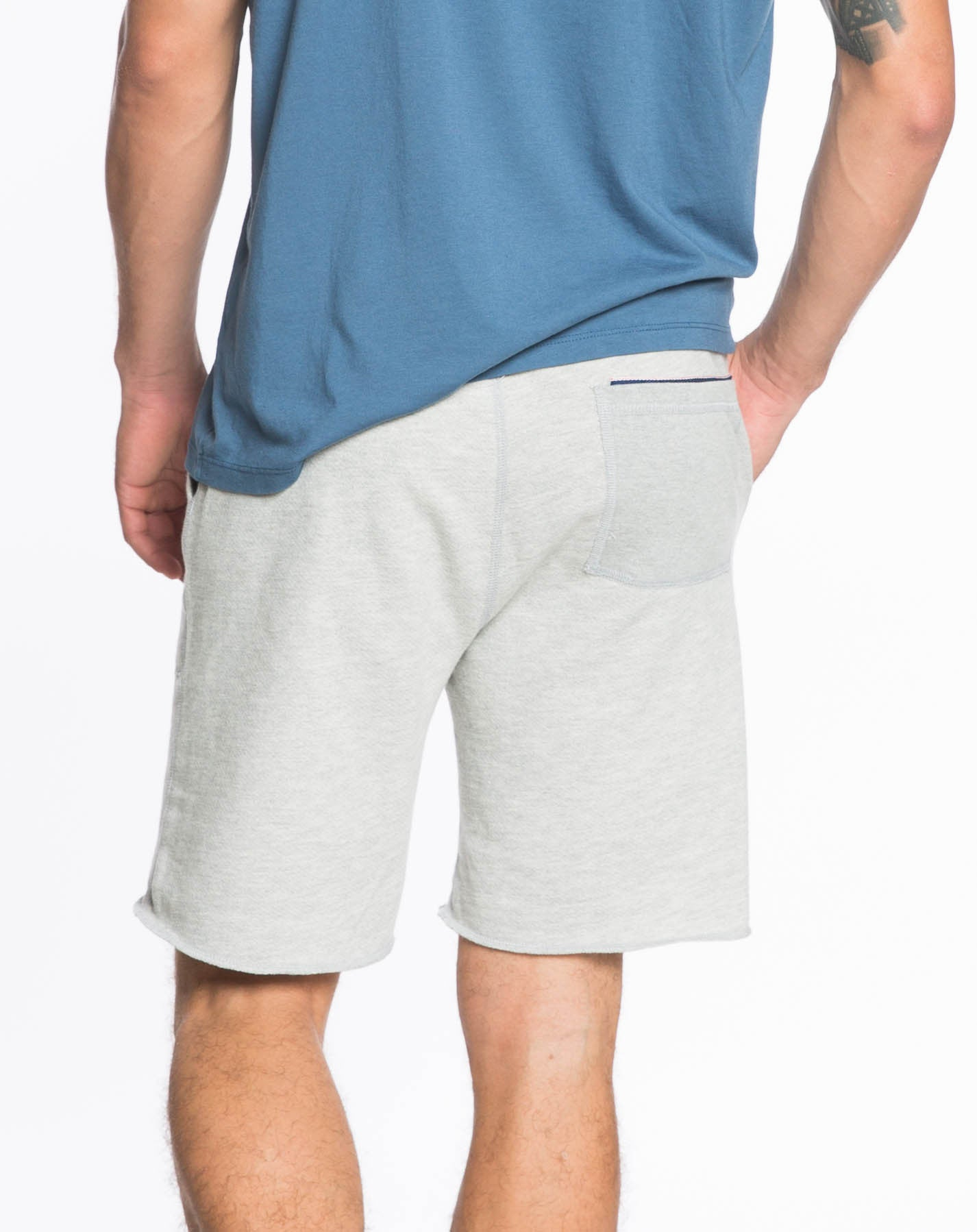 Fleece Jogger Shorts - Heather Grey