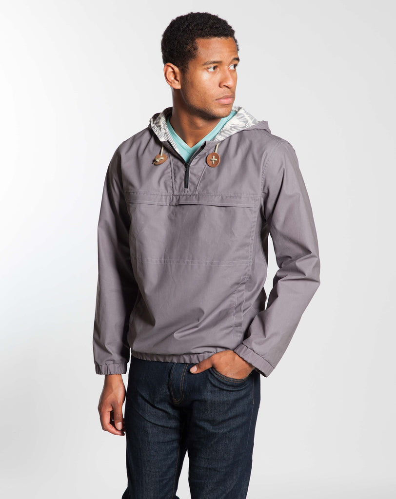 Waxed Canvas Pullover - Light Blue