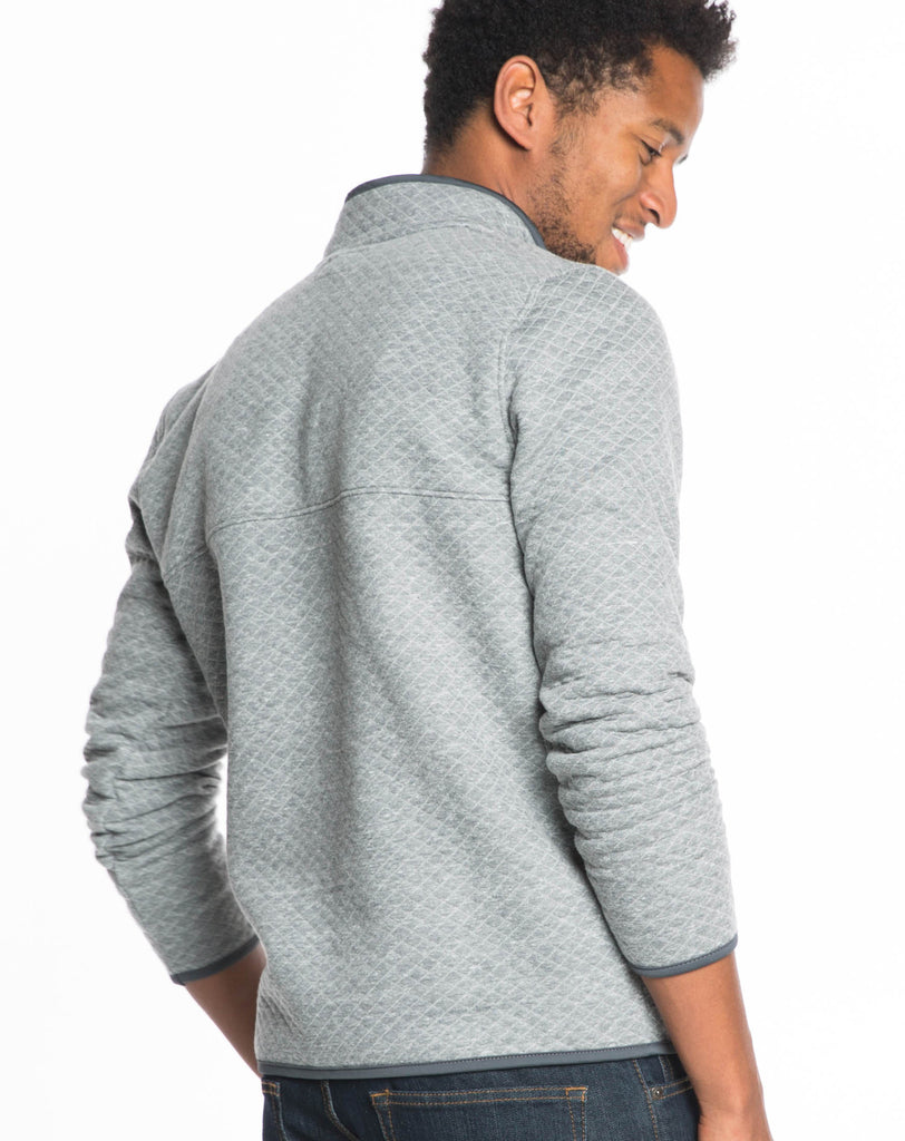 Corbet's Quilted Pullover - Charcoal