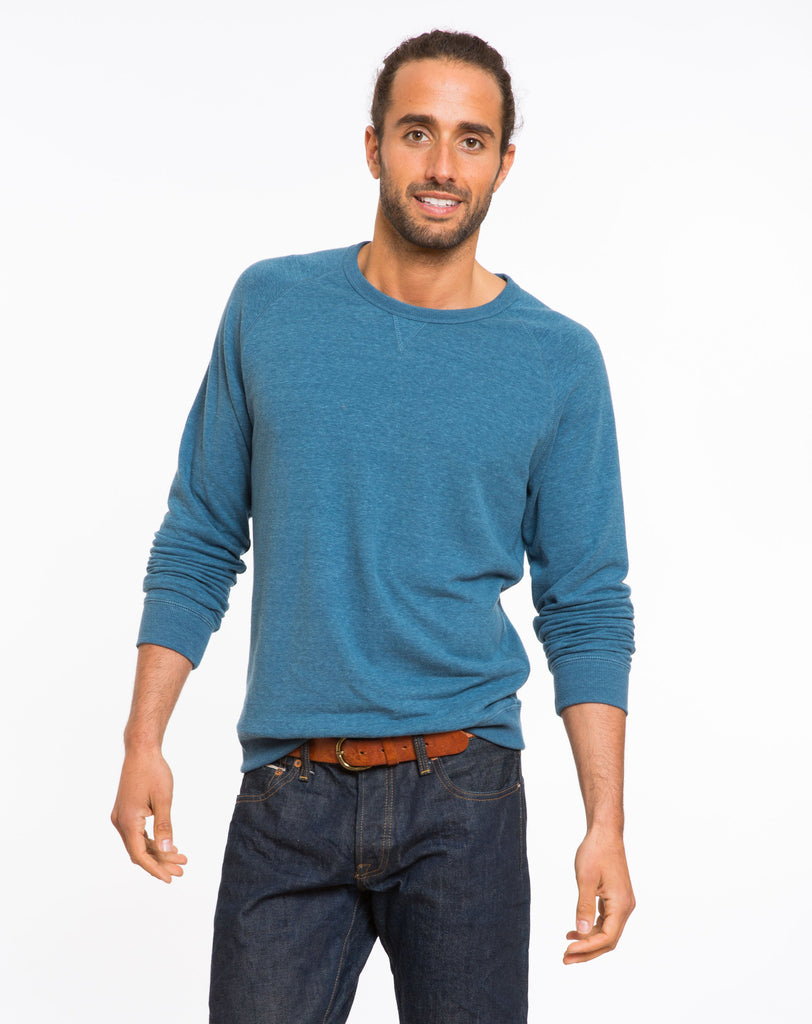 Doubleknit Raglan - Sea Blue