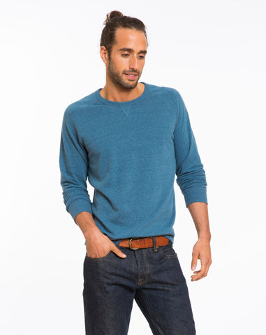 Double Knit Raglan - Sea Blue