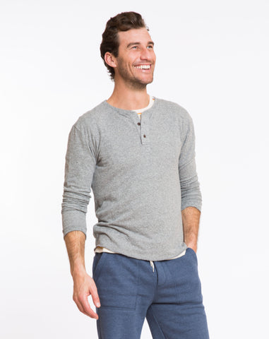 Doubleknit Henley - Heather Grey