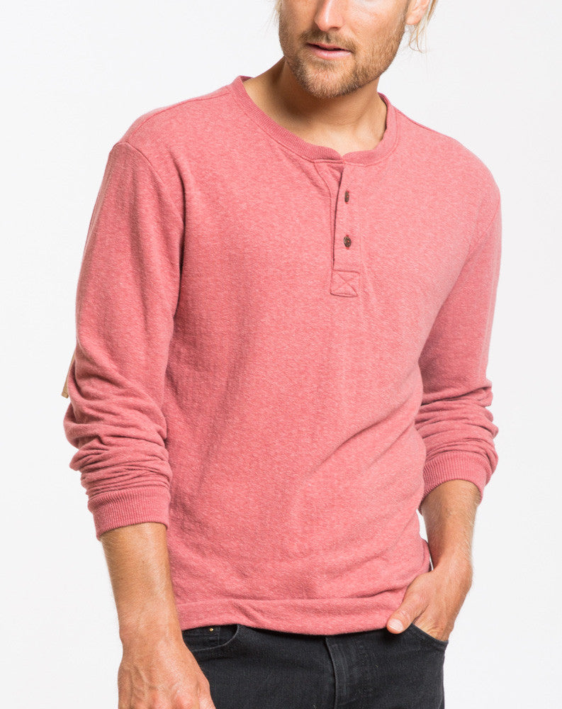 Double Knit Henley - Marsala
