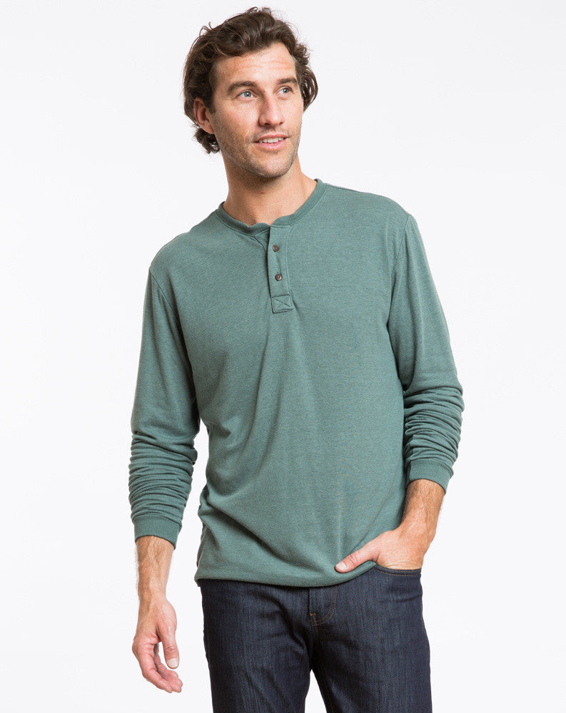 Double Knit Henley - Pine Grove