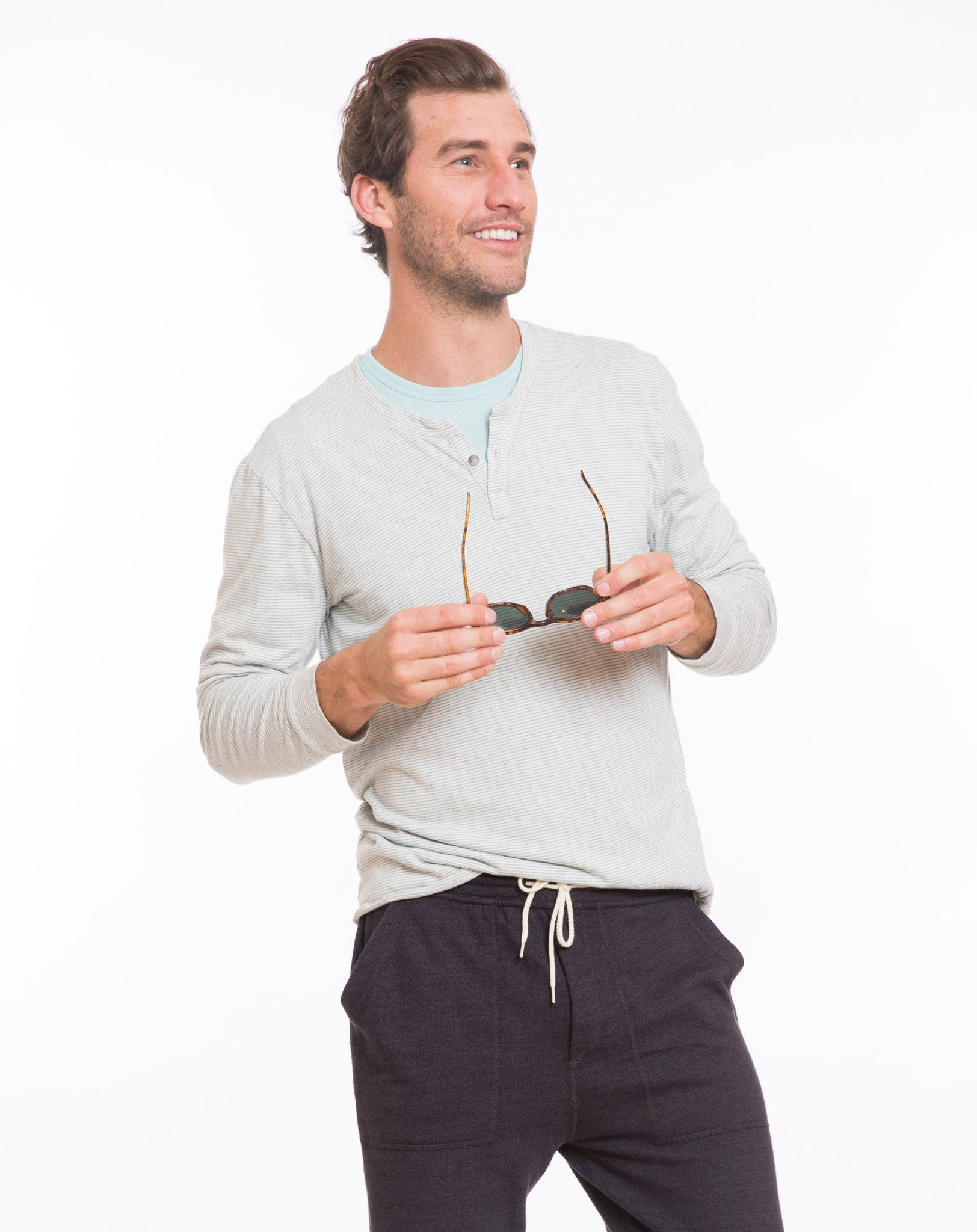 Summer Henley - Natural Stripe