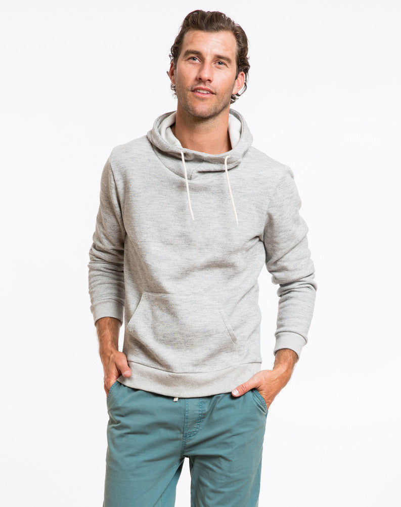 Cowlneck Hoodie - Heather Grey