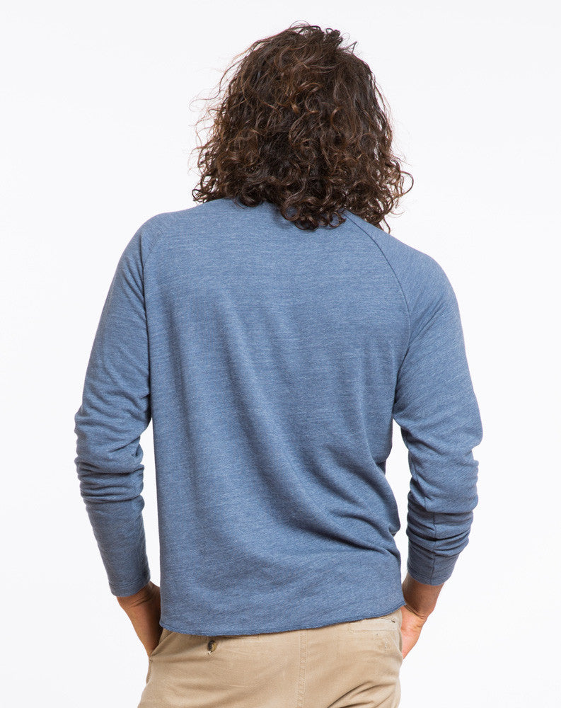 Double Knit Baseball Raglan - Navy