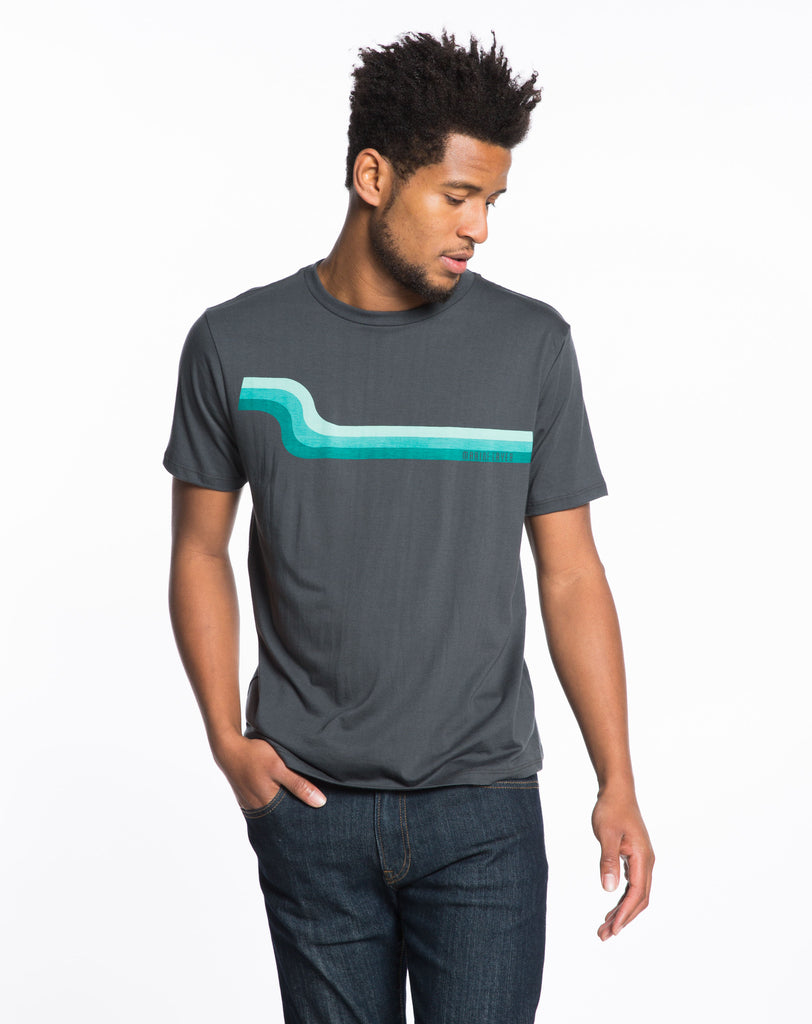 Slow Wave Graphic Tee - Asphalt