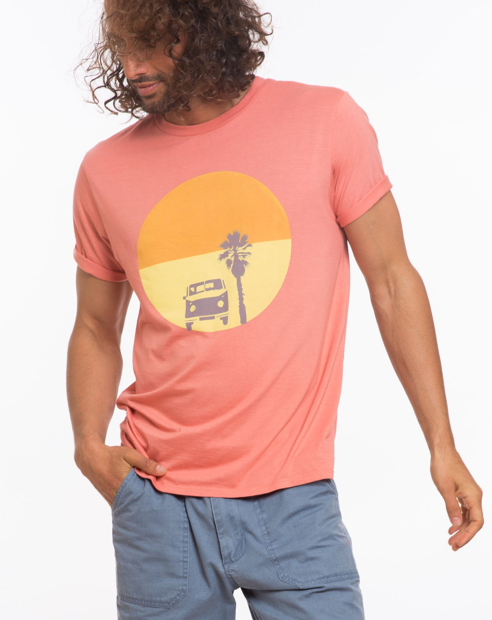 Sunset Bus Graphic Tee