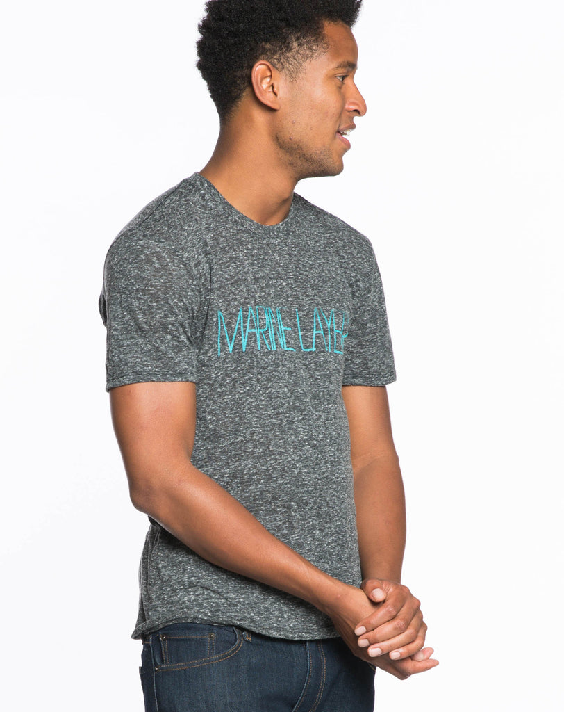 Foggy Letters Graphic Tee - Charcoal