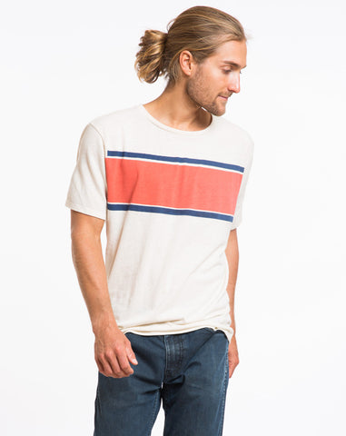 Seam to Seam Stripe Graphic Tee
