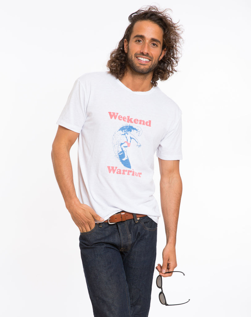 Weekend Warrior Graphic Tee - White