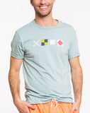 Semaphore Graphic Tee - Stone Blue