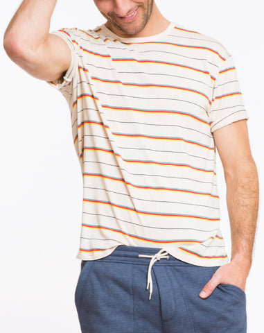 Beach Boys Retro Stripe Tee - Natural