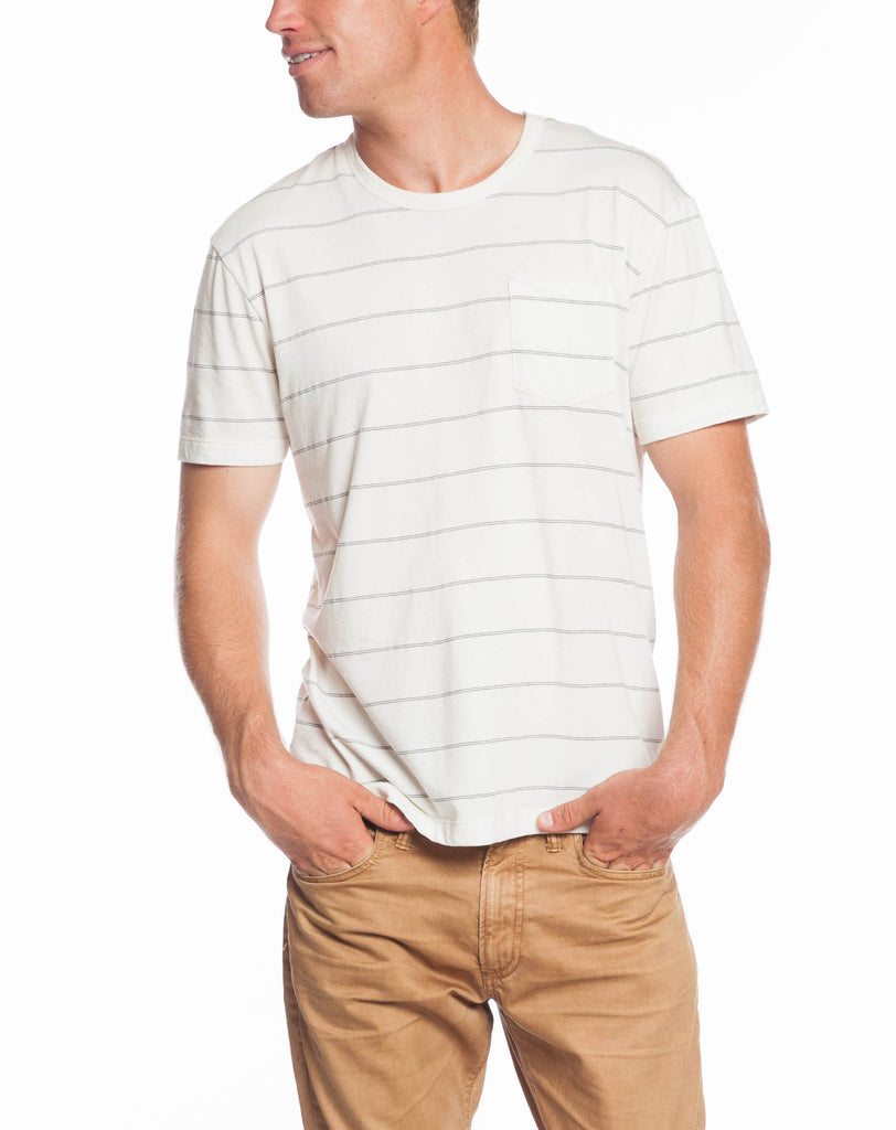Harrison Striped Crew - Natural