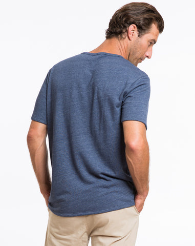 Double Knit Pocket Tee - Dark Navy
