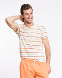 Beach Boys Retro Stripe Polo - Natural