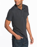 Sueded Jersey Polo - Asphalt