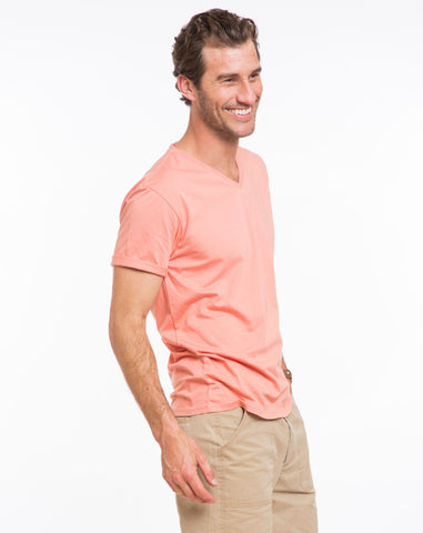 Signature V-neck - Canyon Clay