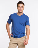 Signature V-neck Tee - Surfer Blue