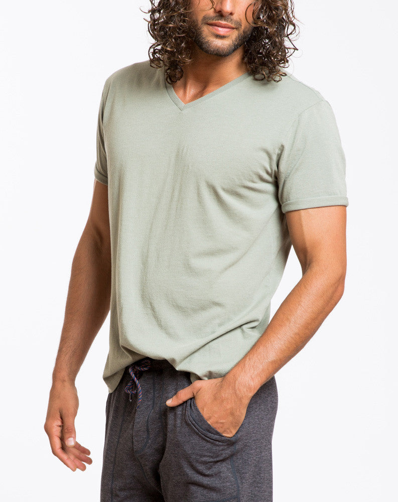 Signature V-neck - Sea Spray