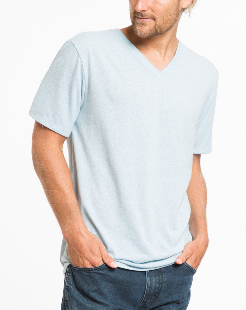 Tri-Blend V-neck - Sterling Blue