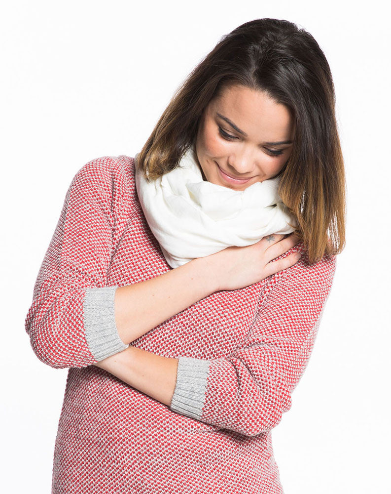 Double Knit Scarf - Cream