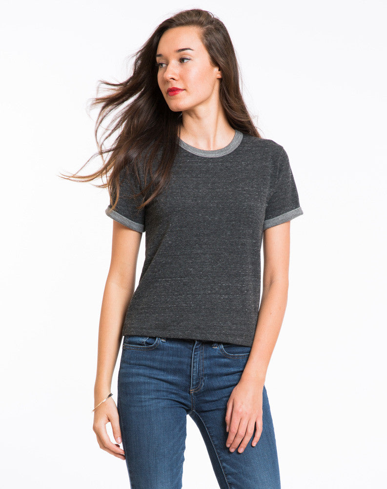 Shortsleeve Nina Sweatshirt - Charcoal