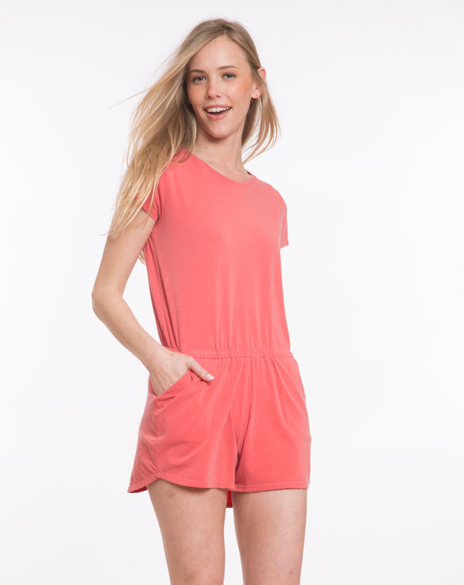 Langley Romper - Aurora Red