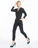 Nellie Jumpsuit - Black Crepe