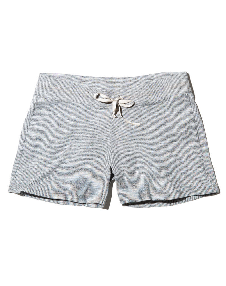 PJ Shorts - Thin Grey and White Stripe