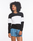 Colorblock Sweatshirt - Black and White