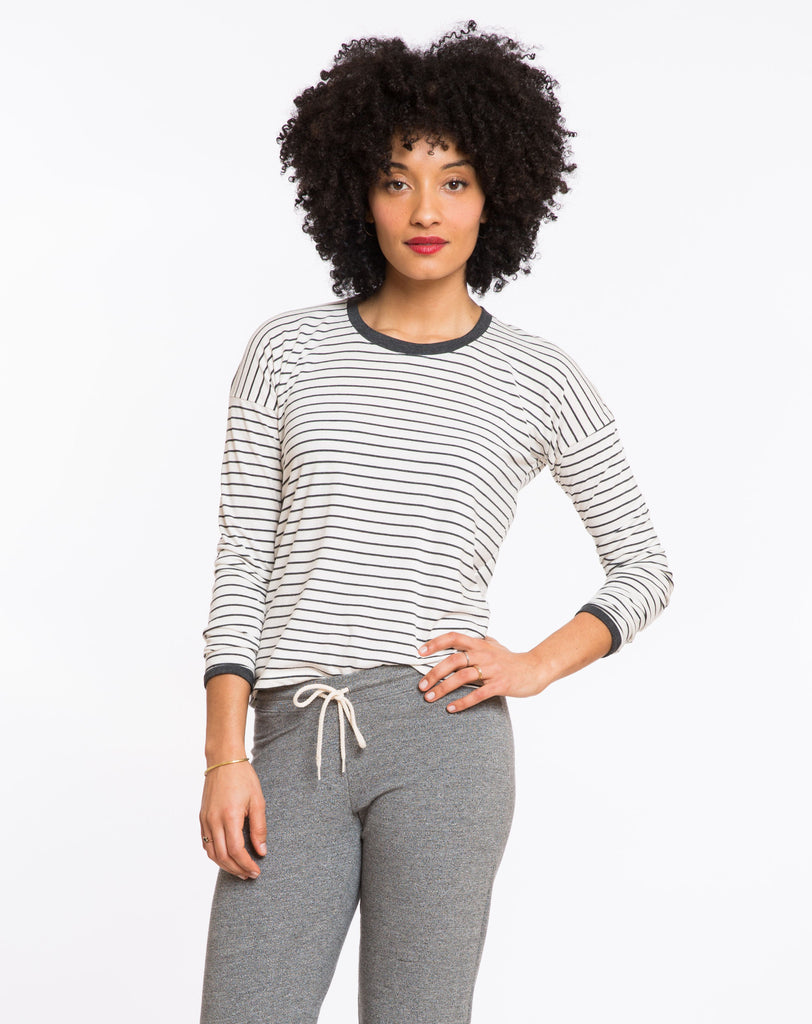 BEA STRIPED LONGSLEEVE CREW