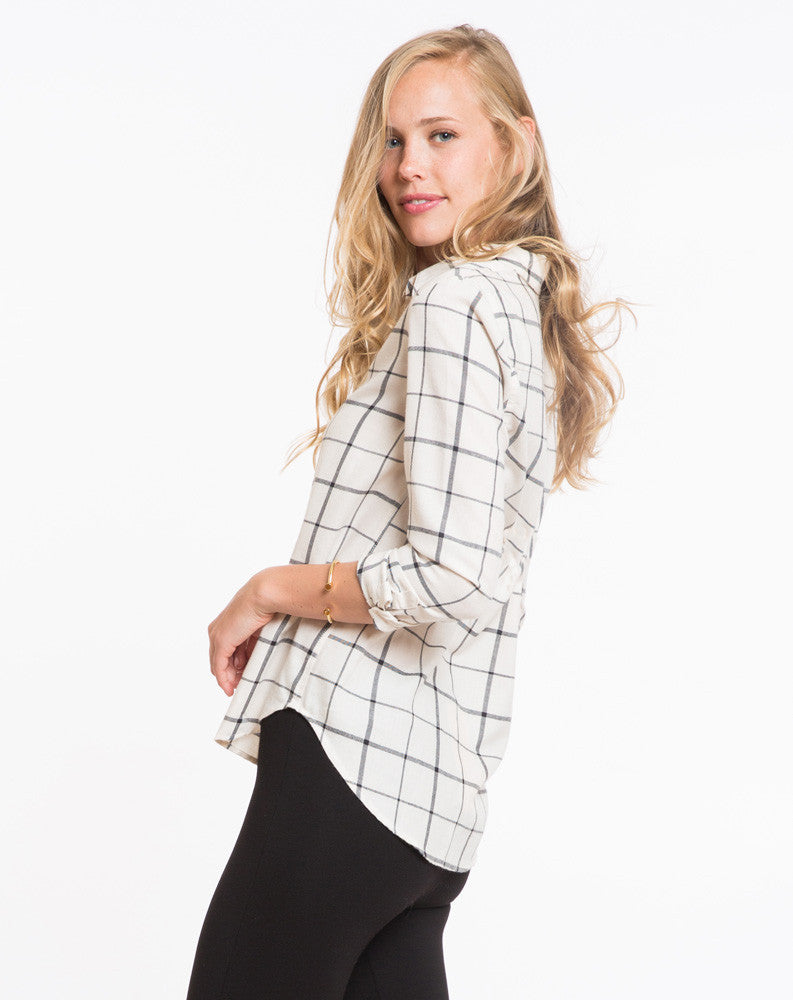 The Rhea Windowpane Buttondown