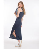 Amelia Overdyed Maxi Dress - Mood Indigo