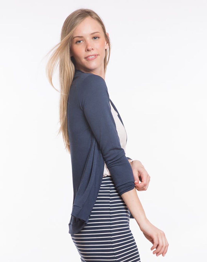 Open Cardigan - Navy