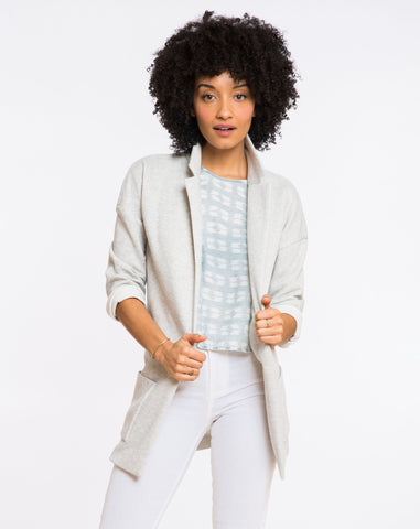 Oversized Hemingway Jacket - Heather Grey Terry